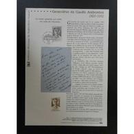 Document Officiel La Poste - Geneviève De Gaulle Anthonioz - Documents De La Poste