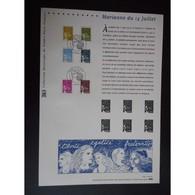 Document Officiel La Poste - Marianne Du 14 Juillet - Documents Of Postal Services
