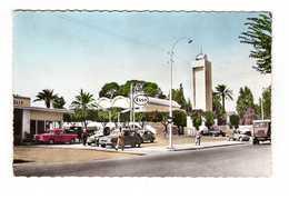 Algerie Orleansville La Mosquée CPSM PF Station Service Esso Vieille Voiture Automobile Camion - Chlef (Orléansville)