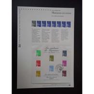 Document Officiel La Poste - Les Couleurs De Marianne En Euros - Documents Of Postal Services