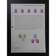 Document Officiel La Poste - Marianne Et L'Europe 2009 - Documents Of Postal Services