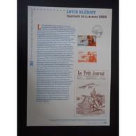 Document Officiel La Poste - Louis Blériot - Traversée De La Manche 1909 - Documents De La Poste