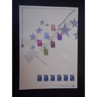 Document Officiel La Poste - Marianne Et L'Europe 2010 - Documents Of Postal Services