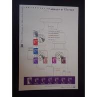 Document Officiel La Poste - Marianne De L'Europe 2011 - Documents Of Postal Services