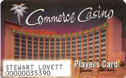 Commerce Casino - Commerce, CA - Paper Players Card - Casino Cards