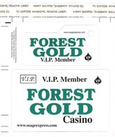Forest Gold Casino - Amite, LA - Slot Card Set With Full Size & Keyring Cards Still Attached - Casino Cards