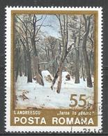 Romania 1975. Scott #2534 (U) Painting, Winter In The Woods, By Ion Andreescu (1850-1882) * - 1948-.... Républiques