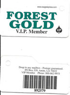Forest Gold Casino - Amite, LA - Keyring Slot Card - Casino Cards