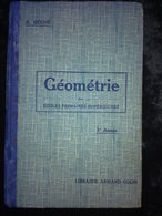 A. Béché: Géométrie Des écoles Primaires Supérieures 3ème Année. Armand Colin - Livres, BD, Revues