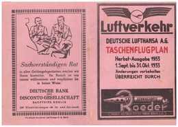 Deutsche Luft Hansa AG Herbst – Flugplan - Cartes