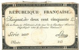 Assignat De Deux Cent Cinquante Livres 250 Domaines Nationaux - Assignats & Mandats Territoriaux