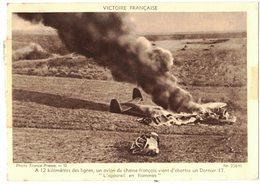 TRANSPORT AVIATION Victoire Française Avion De Chasse Français Vient D'abattre Un Dornier 17 Propagande FRANCE PRESSE - Aviation