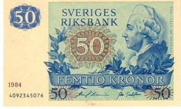 Sweden P,53   50 Kronor 1984  Unc - Svezia