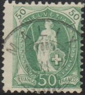 Schweiz, 13.11.1904, Malix, 74E,  Stehende Helvetia, Vollstempel, Siehe Scan! - Used Stamps