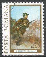 Romania 1977. Scott #2718 (U) Painting, Calafat Artillery Unit, By Sava Hentia * - 1948-.... Républiques