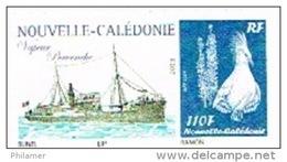 Nouvelle Caledonie Timbre Personnalise Prive M. Bunel Paquebot Navire Vapeur Pervenche Wallis Hebrides Neuf 2013 - Unclassified