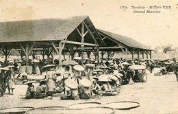 Cpa Tonkin Hung-Yen Le Grand Marché --animé--écrite - Cartes Postales