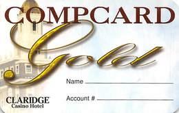 Claridge Casino Atlantic City, NJ - BLANK Paper Compcard Gold Card - Casino Cards