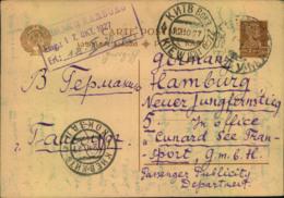 1927: 7 Kop Stat. Card From BATUM Via Kiew Sent To Hamburg. - GEORGIA - Georgien