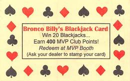 Bronco Billy's Casino Cripple Creek, CO - Paper Blackjack Card (BLANK But Stamped VOID) - Casino Cards
