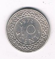 10 CENTS 1972 SURINAME /2306/ - Surinam 1975 - ...
