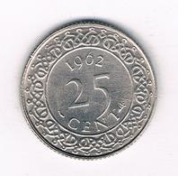 25 CENTS 1962 SURINAME /2307/ - Surinam 1975 - ...