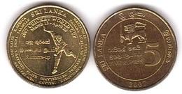 Sri Lanka - 5 Rupees 2007 AUNC Cricker World Cup Comm. Lemberg-Zp - Sri Lanka