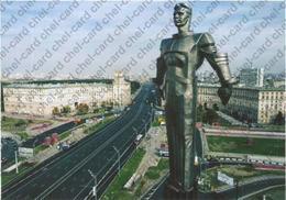 "[2017, Space, Gagarin, Art] Postcard ""[Moscow. Monument To Yury Gagarin (fragment)]"". - Russie"
