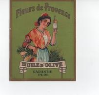 Dépliant Publicitaire à 2 Volets  , Fleurs De Provence , Huile D'Olive - Publicités