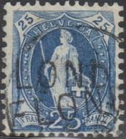 Schweiz, 1894 Flond, Stabstempel (GR) 73D, Stehende Helvetia, Vollstempel, Siehe Scan! - Used Stamps