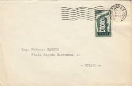 LETTERA 1957 25 L. EUROPA (1956) TIMBRO ROMA (EX50 - 1946-60: Storia Postale