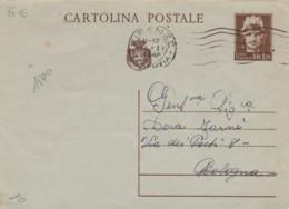 INTERO POSTALE VIAGGIATO 1946 CENT 1,2 TIMBRO FIRENZE (EX108 - 6. 1946-.. Repubblica