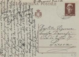 INTERO POSTALE VIAGGIATO 1946 CENT 1,2 TIMBRO GROSSETO (EX109 - 6. 1946-.. Repubblica