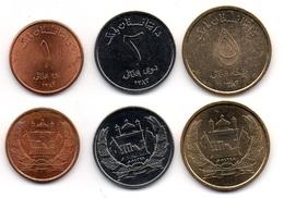Afghanistan - Set 3 Coins 1 2 5 Afganis 2004 XF Lemberg-Zp - Afghanistan