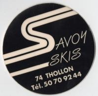 Autocollant Savoy Skis Thollon (74) - Stickers