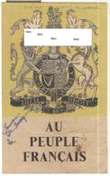"""Tract Anglais """" Au Peuple Français """" Pour L'Occupation De Diego Suarez ( Madagascar ) 1942 Opération Ironclad - Documents"""