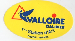 Autocollant Valloire Galibier (73) 1ère Station D'art - Savoie - Stickers