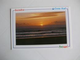 Postcard Postal Sesimbra Pôr Do Sol - Setúbal
