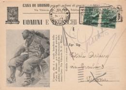 CARTOLINA POSTALE UOMINI E TEDESCHI L.1X2 1947 TIMBRO TRIENNALE (EX140 - 1946-.. République