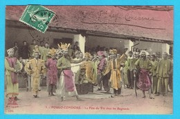 CPA Colorisée POULO-CONDORE Vietnam , La Fête Du Têtchez Les Bagnards - Prison , Prisonniers , Bagne , Pénitencier - Gevangenis