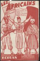 """Partition """" Les Africains """" Paroles Reyjabe - Musique Cap. Boyer - Chant De Guerre Des Jeunes Africains - Sep. 1945 - Documents"""