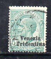 XP4264 - TRENTINO ALTO ADIGE 1918 , Sassone N. 21  Usato - Trentino
