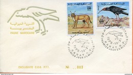 "Maroc;FDC 1975, TP N°736/737,faune Marocaine ""Morocco;Marruecos - Maroc (1956-...)"
