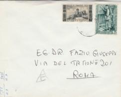 LETTERA CIRCA 1955 25+25 L. ISTRUZIONI PROFESSIONALI/BASILICA S.FRANCESCO (EX35 - 1946-60: Storia Postale