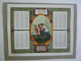 ALMANACH  1870 CALENDRIER Empire III  ALLEGORIE  Arabesque Médaillon Jeu De Cache-cache   Edit Mayoux  Chemise  3-3 - Calendriers