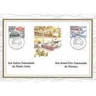 Feuillet CEF N° 7/352 - 60e Rallye Automobile De Monte-Carlo, 50e Grand Prix Automobile De Monaco - FDC
