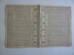 ALMANACH  1838 CALENDRIER 2 SEMESTRIELS  ALLEGORIE  SIGNES  DU ZODIAQUE Etiteur TH. TARBE Imprimeur - Calendriers