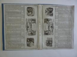 ALMANACH 1870 DOUBLE  CALENDRIER  SEMESTRIEL  Recto Verseau ALEGORIE  Lithographie Lacoste  Edit Mayoux Et Honoré - Calendarios