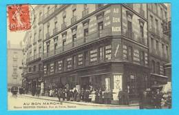 CPA  NANTES Au Bon Marché Maison Brunner Thomas Rue De Feltre - Carte Animée Devanture Commerce 1913 - Nantes