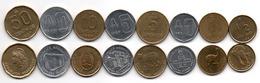 Argentina - Set 8 Coins 1/2 1 1 5 5 10 10 50 Centavos 1985 - 1989 XF / AUNC Lemberg-Zp - Argentine